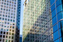 Windows of Skyscraper Business Office, Corporate building in London Royalty Free Stock Photos