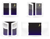 Windows with star and moon Royalty Free Stock Photography