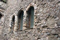 Windows stara ściana Fotografia Royalty Free