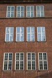 Windows stara szkoła budynek w Szczecińskim Obraz Stock