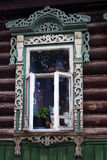 Windows stary dom na wsi Obrazy Stock