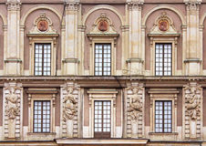 Windows of Stockholm Royal Palace Stock Photo