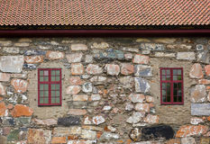 Windows in stone wall Royalty Free Stock Photos