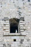 Windows in the stone walls of the fortress Mamula. Montenegro, Boka-Kotor Bay Stock Images
