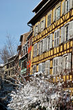 The windows of Strasbourg during winter Royalty Free Stock Photo