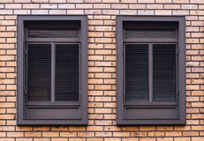 Windows. Style, forms,wood Stock Images