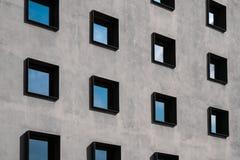Windows su esterno di costruzione Immagini Stock