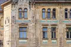 Windows sul fasade del monumento storico Fotografia Stock Libera da Diritti