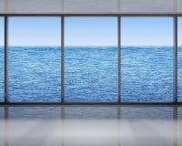 Windows sul mare Fotografie Stock