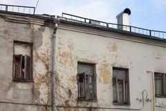 Windows sulla facciata della Camera di Yaroshenko a Mosca Fotografie Stock Libere da Diritti