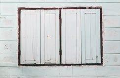 Windows sulla parete Fotografia Stock Libera da Diritti