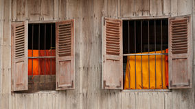 Windows of temple in Cambodia Stock Images