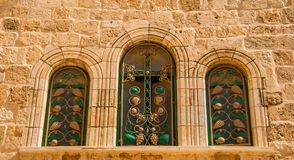 The windows of the temple Stock Photography
