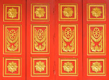 Windows temple thai art style Royalty Free Stock Image