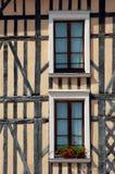 Windows in tenement house Stock Photos