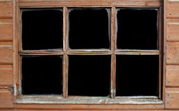 Windows for text. Window frame with blacked out windows for text or other images Stock Images