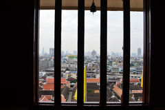 Windows Thai style. Background and small bell Stock Image