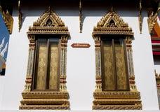 Windows in Thai Temple Stock Photo