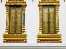 Windows of Thai temple Royalty Free Stock Photography