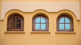 Windows. Three windows of a modernist building Royalty Free Stock Photo