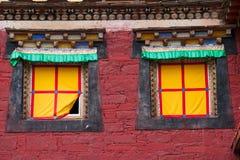 Windows of tibetan temple Stock Photos