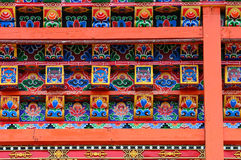 Windows of Tibetan temple Royalty Free Stock Image