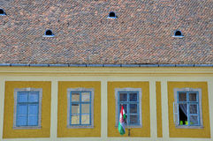 Windows and tile roof Stock Photos