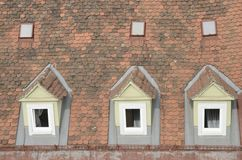 Windows on tile roof Stock Images