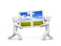 Windows to new season Stock Photography