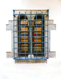 The windows at Tossa de Mar old town Vila Vella in Costa Brava of Catalonia masonry stone Royalty Free Stock Photography