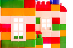 Windows of toy house closeup isolated Royalty Free Stock Image