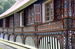 Windows. From traditional house of west sumatra Royalty Free Stock Photography