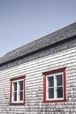 Windows of a traditional rustic house royalty free stock image