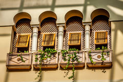 Windows in traditional style.Tunis Stock Image