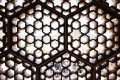 Windows treillagé en Amer Fort Image libre de droits