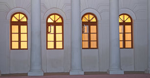 Windows in twilight Stock Images