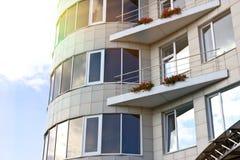 Windows in una costruzione Immagini Stock Libere da Diritti