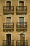 Windows und Balkon Stockbild