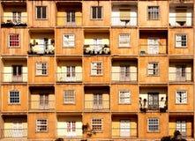Windows und Balkone Lizenzfreie Stockfotos