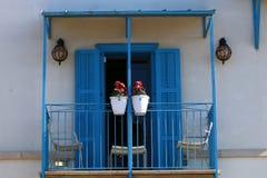 Windows und Balkone in Haifa Stockbilder
