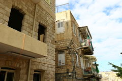 Windows und Balkone in Haifa Lizenzfreie Stockbilder