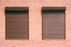 Windows under jalousie Stock Images