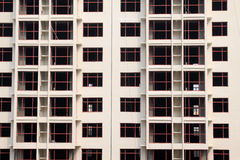 Windows in unfinished building Stock Photos