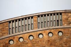 Windows in università Laboral di Gijon Immagini Stock Libere da Diritti