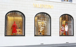 Windows of Valentino boutique in Rome Royalty Free Stock Photos