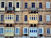 Windows of Valletta Stock Photos