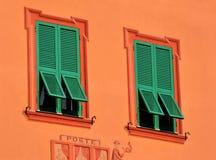 Windows in varese ligure, liguria, italy Royalty Free Stock Photography