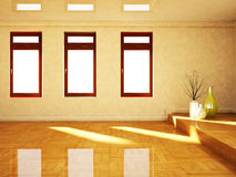 The windows and the vases Royalty Free Stock Photo