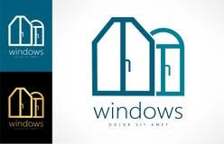 Windows logo vector. Windows vector. Logo design vector illustration royalty free illustration