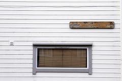 Windows venetian blind wooden white wall Stock Image